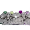 Green and Purple Elephant Comforter