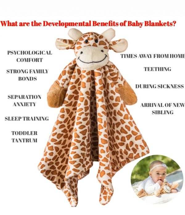 Giraffe comforter safari of angels baby blanket gift for baby